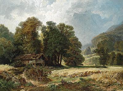 Anton Brioschi (Wien 1855-1920) Landschaft mit