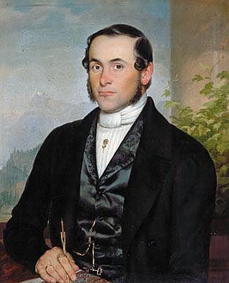Joseph Kessler (Loschitz 1826-1887 Wien) Bildnis