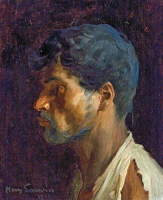 Johann (Hans) Larwin (Wien 1873-1938) Bildnis