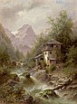 Albert Rieger (Trieste 1834-1905 Vienna) Stream, Albert (1834) Rieger, Click for value