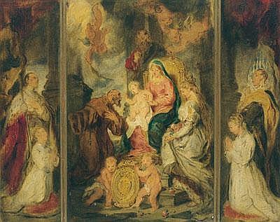 attrib. Hans Canon (1829-1885) Adoration of the