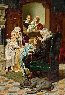 Eugen Klimsch (Frankfurt 1839-1896) Story Time
