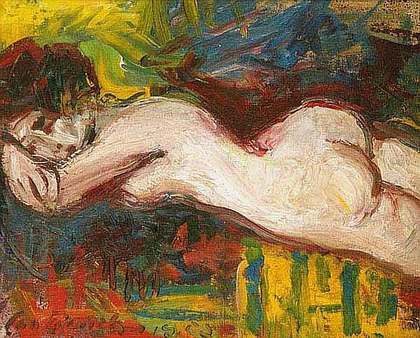 Bauch Jan (Prague 1898 - 1995 Prague) A Nude Girl,