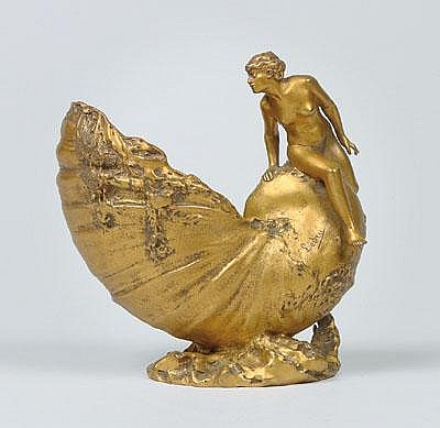 Auguste Ledru (1860-1902), A shell vase with a
