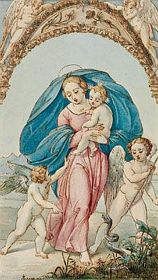 Julius Schoppe d. Ä.(Berlin 1795-1868) The Madonna