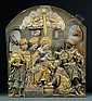 A parcel-gilt, carved and painted limewood relief of the Adoration of the Magi, Johann Peter Schwanthaler, Click for value