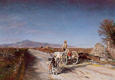 Oswald Achenbach (Dusseldorf 1827-1905) View of