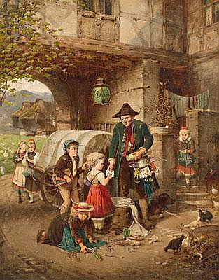 Fritz Beinke (Dusseldorf 1842-1906) Pedlar in the
