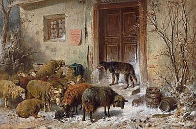 Otto Gebler (Dresden 1838-1917 Munich) Sheep and a