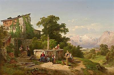 Anton Hansch (Vienna 1813-1876 Salzburg) Genial