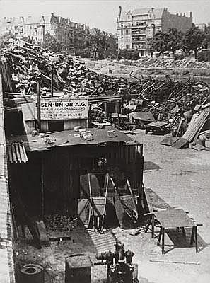 Werner Eckelt (Germany 1914-1990) Berlin junkyard,