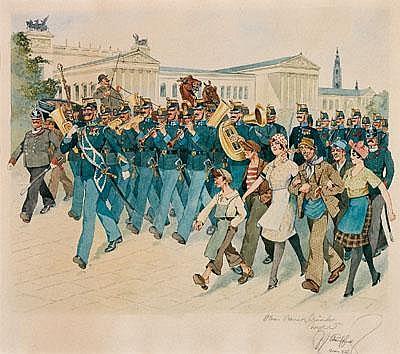 Fritz Schönpflug (Vienna 1873-1951) Regimental