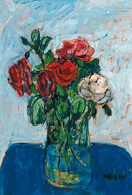 Gino Meloni (1905-1989) attributed Fiori nella