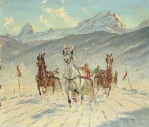 [ 20th Century art by ]  Franz Hienl-Merre E800-1.200