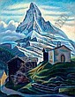 Theodor Allesch-Alescha (born Vienna 1898) The Matterhorn, signed and dated Alescha 58, pastel on paper, 64 x 49.5 cm, framed, (K), Theodor Allesch-Alescha, Click for value
