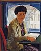 Max Kaus (Berlin 1891-1977) Girl reading at a, Max Kaus, Click for value