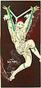 D'YLEN Jean (1886-1938) 'Ohne Titel' Frankreich, um 1930, 109 x 225 cm (aus 2 Teilen zusammengesetzt), Druck: Gaillard, Paris, (auf Leinen) (Z: A), Jean D'ylen, Click for value