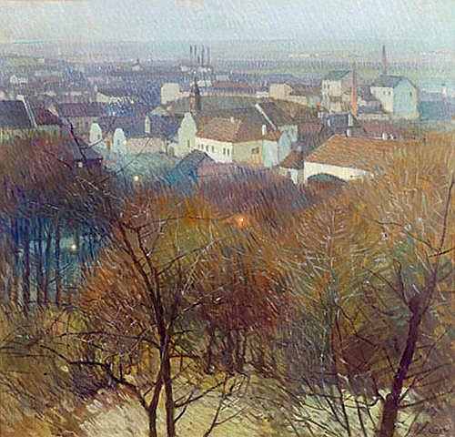 Carl Moll(Vienna 1861-1945) View of Nussdorf and