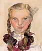 """Anton FILKUKA(Wien 1888 - 1957) """"Mädchen mit"""