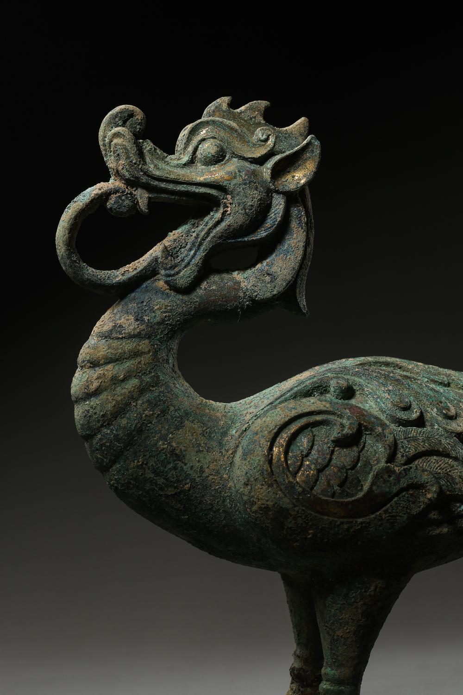 1ST CENTURY CHINESE HAN DYNASTY BRONZE BIRD