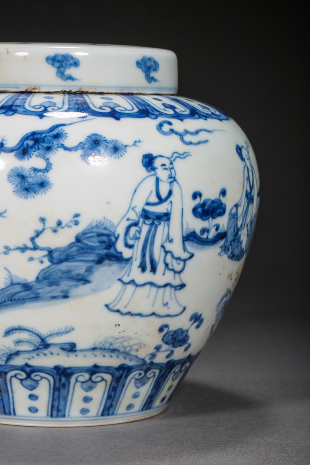 14TH CENTURY MING DYNASTY CHENGHUA, CHINESE BLUE AND WHITE JAR