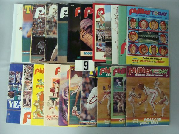 (37 PCS)  BOX OF PHILLIES PUBLICATIONS