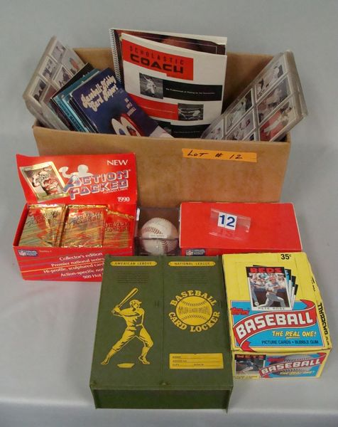 BOX WITH ASSTD. SPORTS COLLECTIBLES -