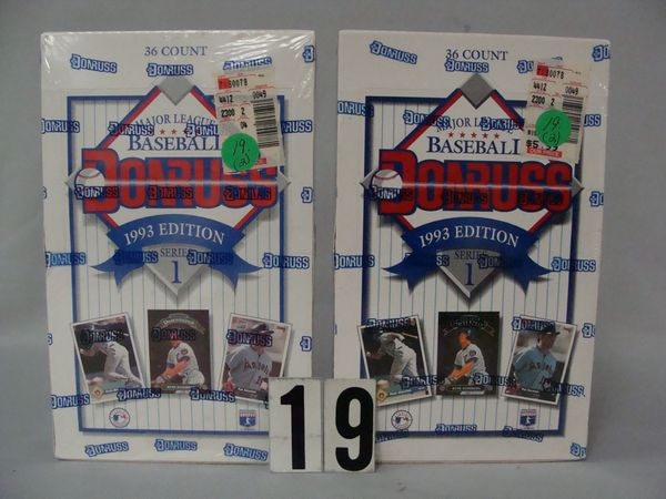 (2) 1993 DONRUSS BASEBALL (UNOPENED) WAX