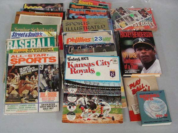 BOX WITH ASSTD. SPORTS PUBLICATIONS,