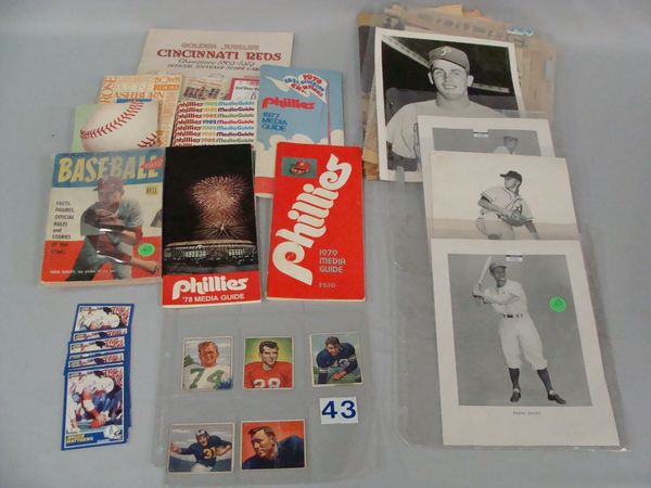 (2) BOXLOTS: MOSTLY PHILA. PHILLIES ITEMS