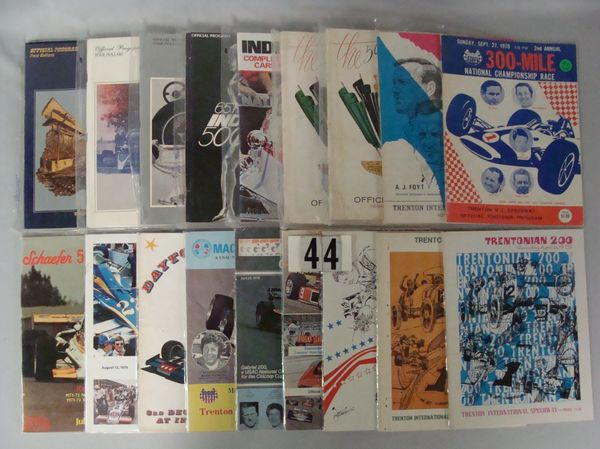 (9 DIFF.) INDY 500 RACE PROGRAMS: