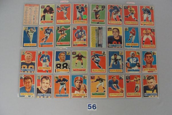 (55 DIFF) 1956 TOPPS FOOTBALL CARDS