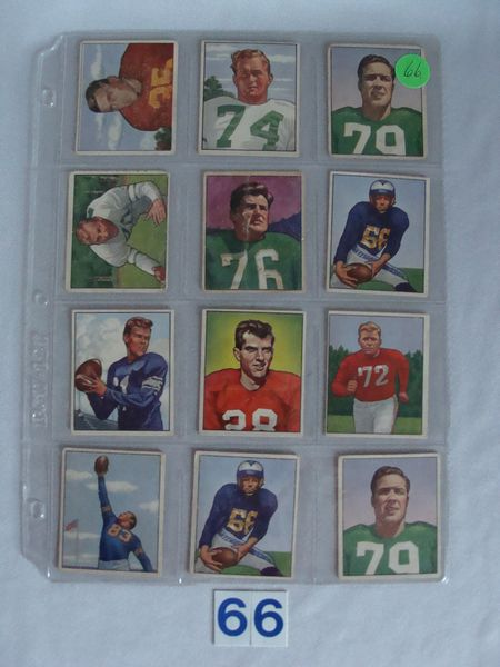 (12 DIFF.) 1950 BOWMAN FOOTBALL CARDS