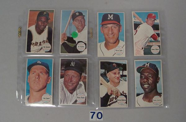 (8 DIFF) 1964 TOPPS GIANTS BASEBALL CARDS: