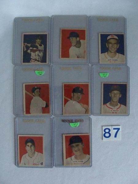 (8) 1949 BOWMAN BASEBALL CARDS: