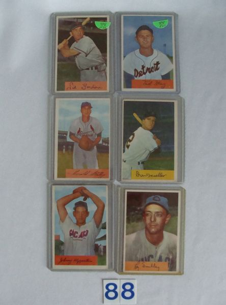 (12) 1954 BOWMAN BASEBALL CARDS: