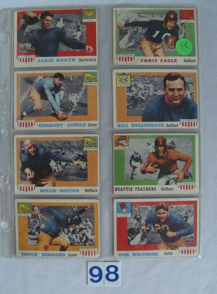(8 DIFF.) 1955 TOPPS ALL-AMERICAN FOOTBALL