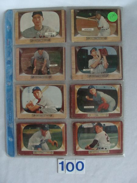 (18) 1955 BOWMAN BASEBALL CARDS: