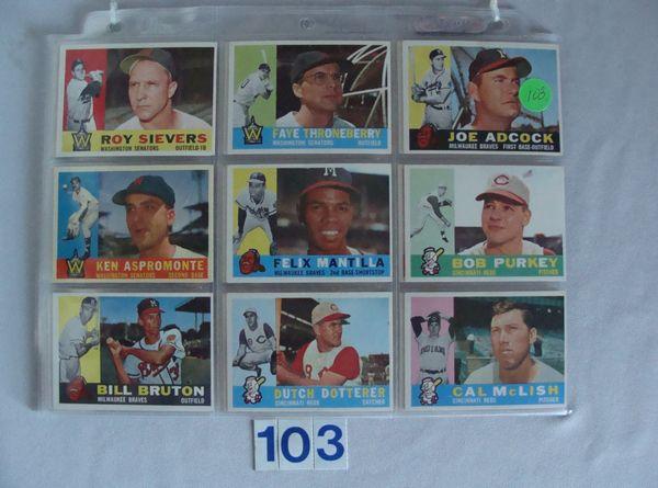 (54) 1960 TOPPS BASEBALL CARDS #3-440