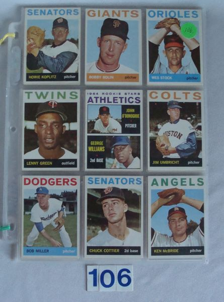 (45) 1964 TOPPS HIGH NUMBER BASEBALL CARDS
