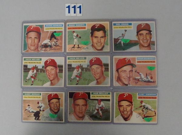 1956 TOPPS BASEBALL PHILA. PHILLIES: