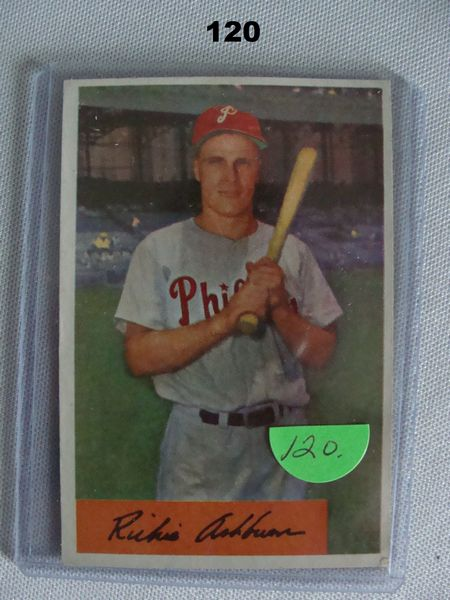 1954 BOWMAN #15 RICHIE ASHBURN - EX