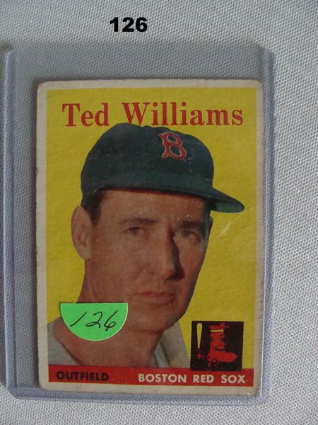 1958 TOPPS #1 TED WILLIAMS - GOOD