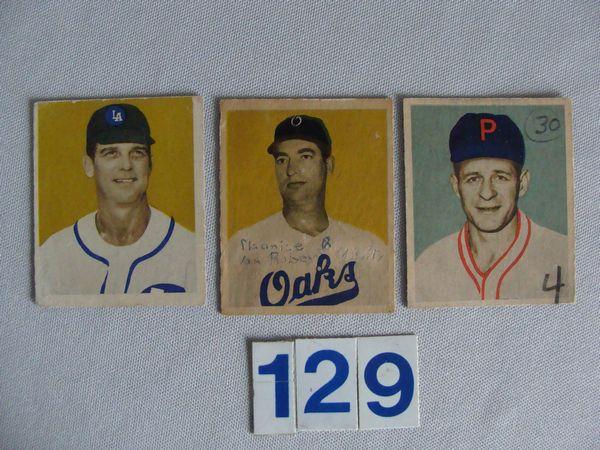 (2) 1949 BOWMAN P.C.L. CARDS: #17 - VG/EX,