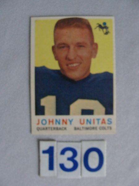 1959 TOPPS #1 JOHN UNITAS - EX-MT.