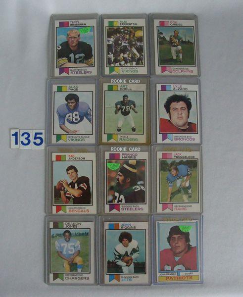 (11) 1973 TOPPS FOOTBALL: #15 T. BRADSHAW -