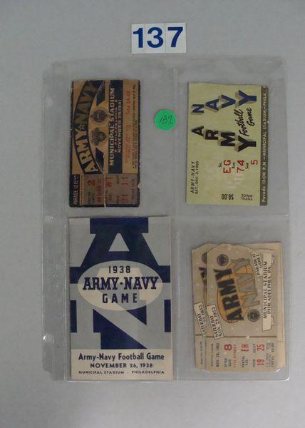 ARMY-NAVY FOOTBALL LOT: TICKETS - NOV. 29,1941 -