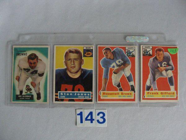 1955 BOWMAN #2, M. McCORMACK - EX, 1956 TOPPS