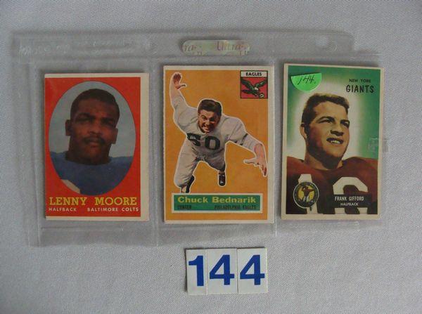 1958 TOPPS #110 LENNY MOORE, 1956 TOPPS #28