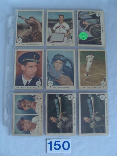 (18) 1959 FLEER TED WILLIAMS: #10, 21, 22 & 23 -